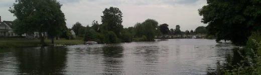 Fishing the Thames at Egham Hythe